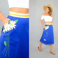 70's Appliquéd WRAP Skirt