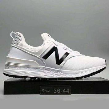 ONETOW new balance fashion casual all match n words breathable couple sneakers shoes white g a0 hxydxpf