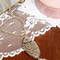 ModCloth Vintage Inspired Gilded Gills New Heirloom Necklace