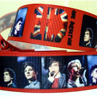 10 yards for 7.70 RED One Direction Inspired Ribbon