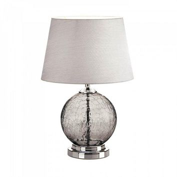 Grey Cracked Glass Table Lamp