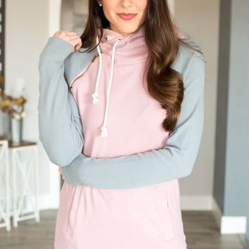 Double Hooded Sweatshirt - Dusty Pastels