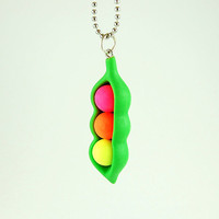 Peas in a pod Necklace cute jewelry in a capsule