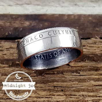 Chaco Culture National Park Quarter Coin Ring