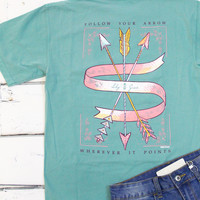 Follow Your Arrow Tee {Seafoam}