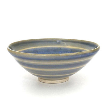 Porcelain bowl, blue bowl, ceramic bowl, handmade, salad bowl, rice bowl, blue pottery bowl, unique blue bowl