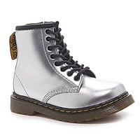 Dr. Martens Girls' Brooklee Casual Combat Boots - Silver