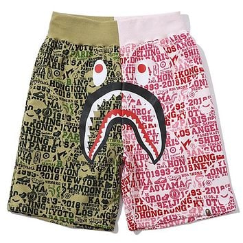 BAPE 2019 new 25th anniversary limited color matching shorts Green/Pink