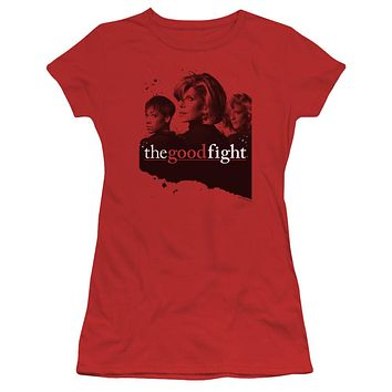 The Good Fight Juniors T-Shirt Cast Red Tee