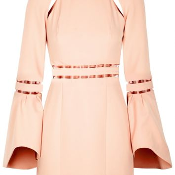 Finders Keepers Solar blush cut-out mini dress