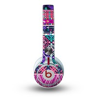 The Pink & Teal Modern Colored Aztec Pattern Skin for the Beats by Dre Mixr Headphones