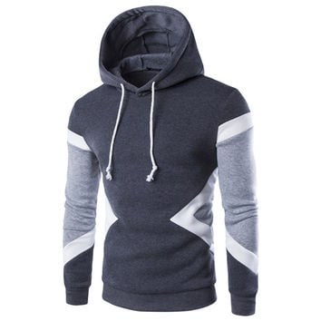 New Winter Pullovers Leisure Patchwork Colors Fashion Sweatshirts Hooded Coats Hoodies Sweat
