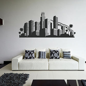 kik1153 Wall Decal Sticker Los Angeles American city living children's bedroom