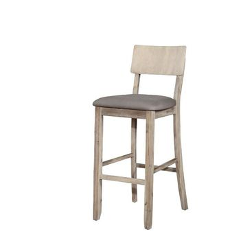 Linon Jordan Gray Wash Bar Stool
