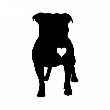 Pitbull Heart Vinyl Car Decal