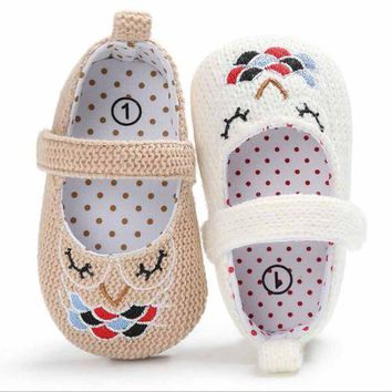 Adorable Owl Knitted Baby Shoes
