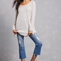 French Terry Shirred Top