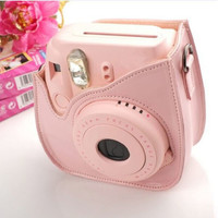 Top Quality Leather Camera Shoulder Strap Bag Case for Polaroid Colorful Case Pouch For Fuji Fujifilm Instax Mini8 5 Colors A3