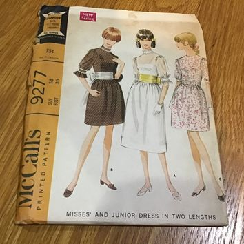 Vintage McCalls 9277 Pattern Size 14 Dress in Two lengths