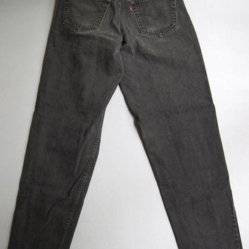 Vintage Levi's 560 Jeans Loose Tapered Black 32 x 36 Denim 32 x 35 123410