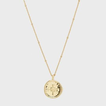 Compass Coin Necklace by Gorjana