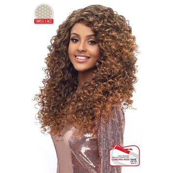 "LACE FRONT WIG, SWISS DEEP PART LACE CURLY 20""  (LSD04)"