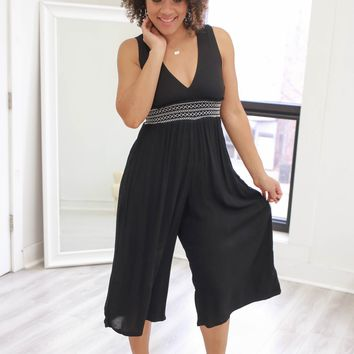 Dancing In Autumn Jumpsuit - Black