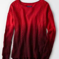 AEO Softest Stitchmix Sweater, Red