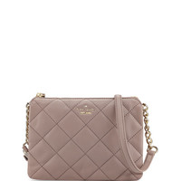 kate spade new york emerson place harbor quilted crossbody bag, porcini