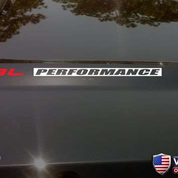 6.8L PERFORMANCE Hood Vinyl Decals Stickers Fits: Ford F250 Superduty V10 INV