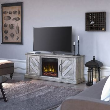 "Belcrest Fireplace TV Stand for TVs up to 60"", Valley Pine - 56 inches in width 