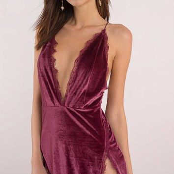 Wild Thoughts Velvet Dress