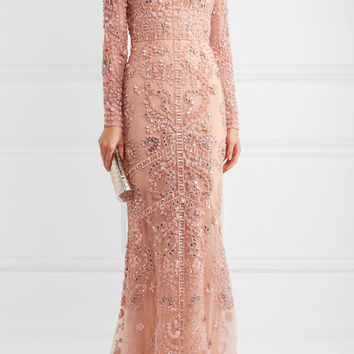 Zuhair Murad - Embellished silk-tulle gown