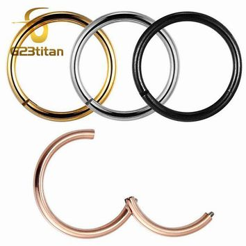 ac DCCKO2Q G23titan Rose Gold Color Septum Rings G23 Titanium Open Small Earrings Women Men Ear Nose Piercing Jewelry