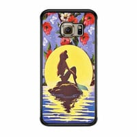 Ariel Little Mermaid Disney Flower Vintage Samsung Galaxy S6 Edge Case