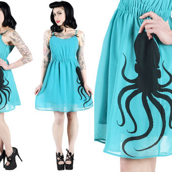 Doll Baby Dress by Sourpuss- Octopus - Dresses And Skirts