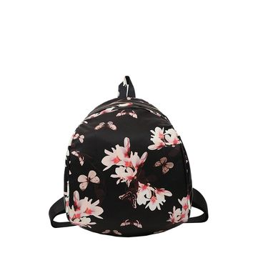 Butterfly & Flower Print Backpack