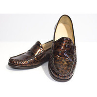 Cole Haan Loafers Size 3 Air Penny Moccasin Driver Tortoise Patent Ladies Shoes | eBay