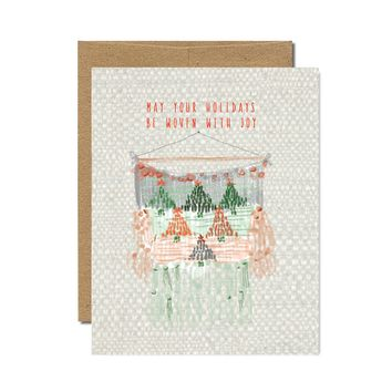 FERME A PAPERIE HOLIDAY MACRAME CARD