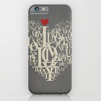 Red Heart Love iPhone & iPod Case by Smyrna