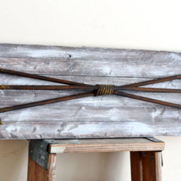 Large Wall Arrow Reclaimed Wood Art Rustic Nursery Deco