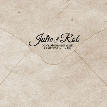 Calligraphic Envelope Labels, return address labels, printable envelope labels
