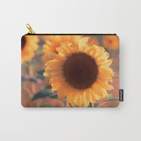 Soon she donates seeds for the birds the sunflower Carry-All Pouch by tanjariedel