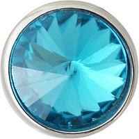"""Snap Charm Petite 12mm Turquoise Faceted Crystal , 1/2"""" Diameter"""