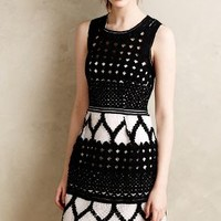 Rona Basketweave Dress by Yoana Baraschi Black & White
