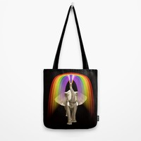 Blow Me A Rainbow Tote Bag by Inspired Images
