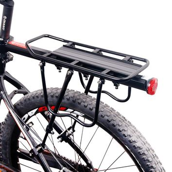Deemount Bicycle Luggage Carrier Cargo Rear Rack Shelf Cycling Seatpost Bag Holder Stand for 20-29 inch bikes with Install Tools