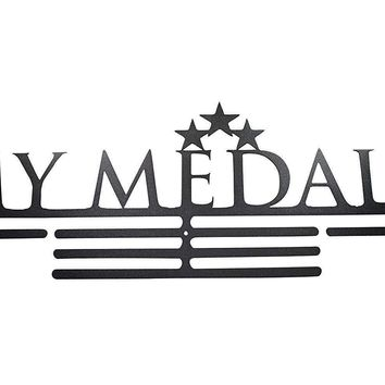OFG Medal Hanger for Displaying and Hanging Ribbons on a Rack Out of Black Powder Coat Steel (My Medals, Black)