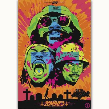 MQ1503 Flatbush Zombies American Hip Hop Singer Star Group Hot Art Poster Silk Light Canvas Home Decor Wall Picture Printings