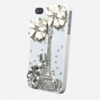 eFuture Handmade 3D Fashion Bling Diamond Luxury crystal rhinestone hard cover case fit for iphone4 4G 4S +eFuture's nice Keyring